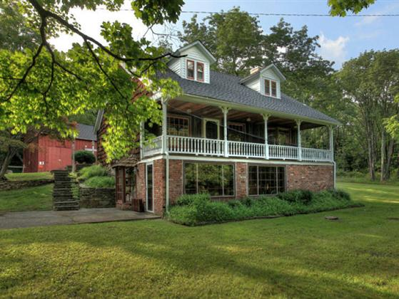 Circa 1850 colonial farmhouse with 46 ac pond for Two story farmhouse oak park